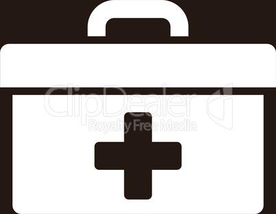 bg-Brown White--first aid toolbox.eps