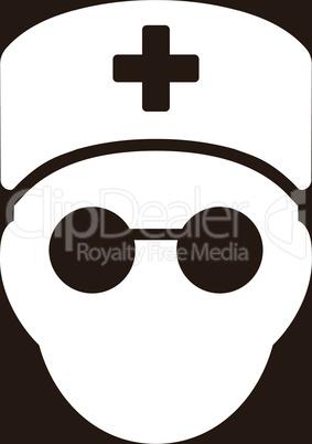 bg-Brown White--medic head.eps