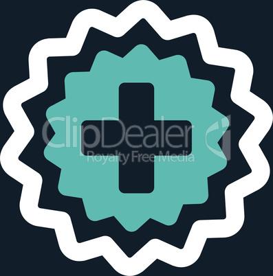 bg-Dark_Blue Bicolor Blue-White--medical cross stamp.eps