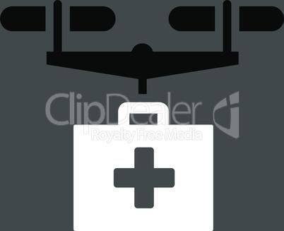 bg-Gray Bicolor Black-White--drug drone delivery.eps
