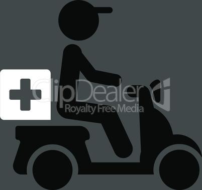 bg-Gray Bicolor Black-White--drugs motorbike delivery.eps