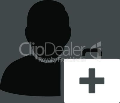 bg-Gray Bicolor Black-White--first aid man.eps