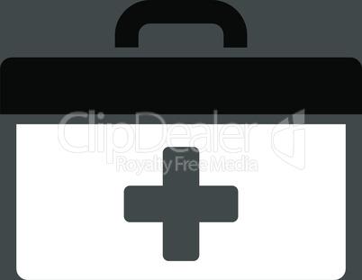 bg-Gray Bicolor Black-White--first aid toolbox.eps