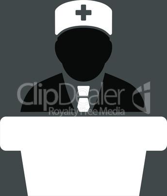 bg-Gray Bicolor Black-White--Health care official.eps