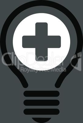 bg-Gray Bicolor Black-White--medical bulb.eps