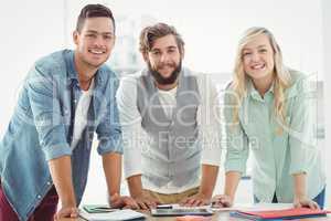Portrait of smiling business professionals