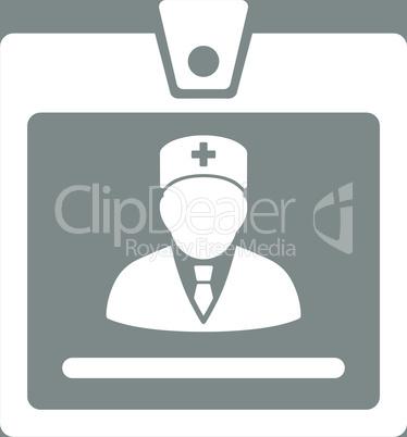 bg-Gray White--doctor badge.eps