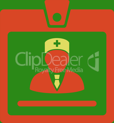 bg-Green Bicolor Orange-Yellow--doctor badge.eps