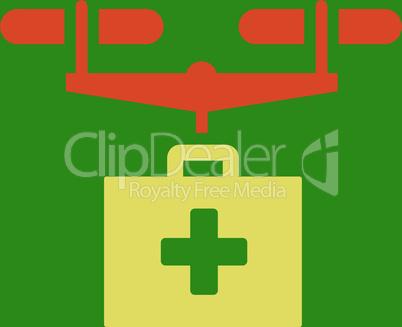 bg-Green Bicolor Orange-Yellow--drug drone delivery.eps