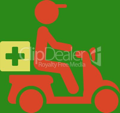 bg-Green Bicolor Orange-Yellow--drugs motorbike delivery.eps