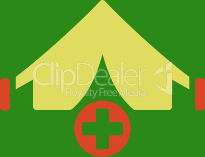 bg-Green Bicolor Orange-Yellow--field hospital.eps