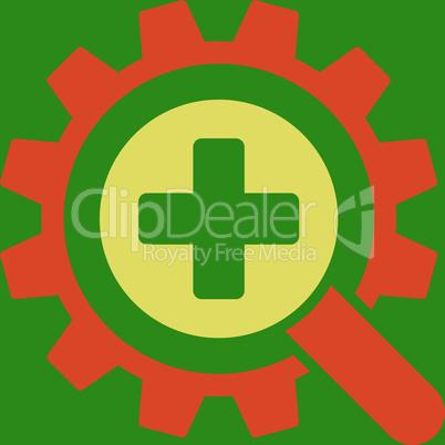 bg-Green Bicolor Orange-Yellow--find medical technology.eps
