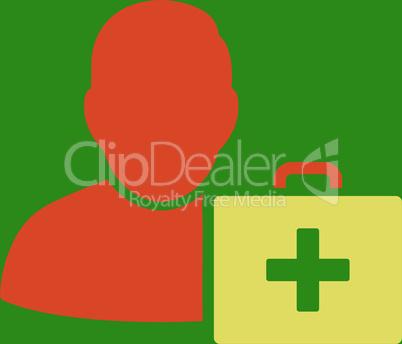 bg-Green Bicolor Orange-Yellow--first aid man.eps