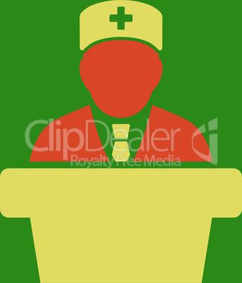 bg-Green Bicolor Orange-Yellow--Health care official.eps