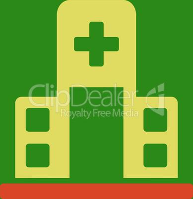bg-Green Bicolor Orange-Yellow--hospital building.eps