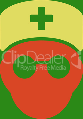 bg-Green Bicolor Orange-Yellow--medic head.eps