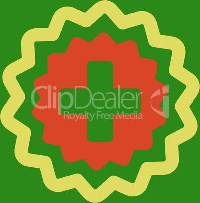 bg-Green Bicolor Orange-Yellow--medical cross stamp.eps