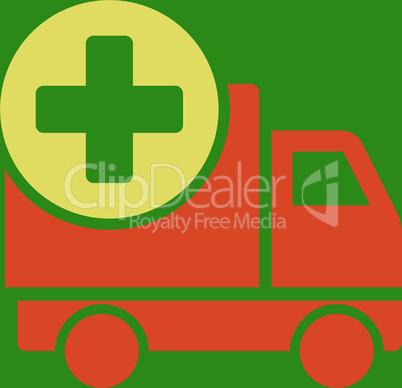 bg-Green Bicolor Orange-Yellow--medical delivery.eps