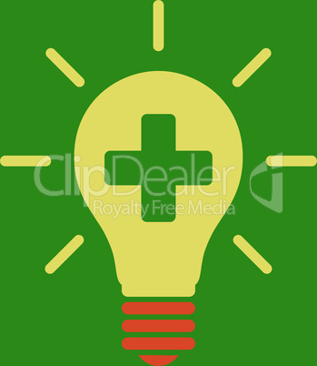 bg-Green Bicolor Orange-Yellow--medical electric lamp.eps