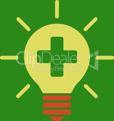 bg-Green Bicolor Orange-Yellow--medical lamp.eps