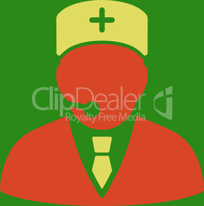 bg-Green Bicolor Orange-Yellow--medical manager.eps