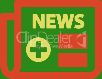 bg-Green Bicolor Orange-Yellow--medical newspaper.eps