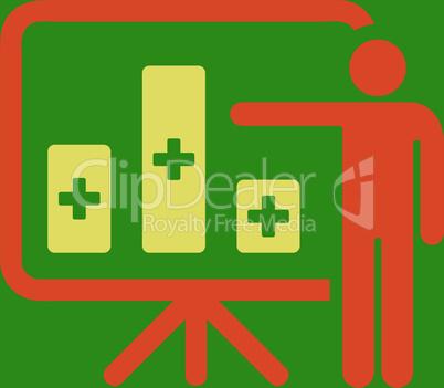 bg-Green Bicolor Orange-Yellow--medical public report.eps
