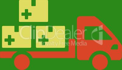 bg-Green Bicolor Orange-Yellow--medication delivery.eps