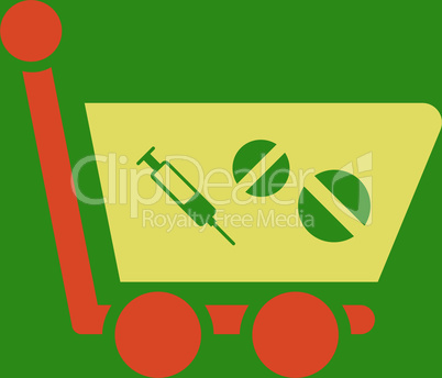 bg-Green Bicolor Orange-Yellow--medication shopping cart.eps