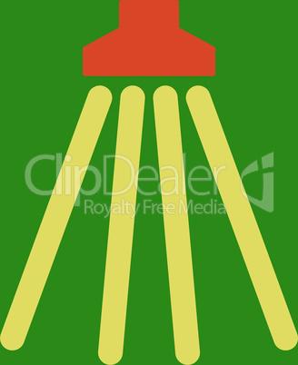 bg-Green Bicolor Orange-Yellow--shower.eps
