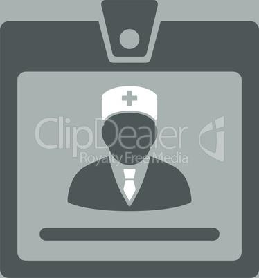 bg-Silver Bicolor Dark_Gray-White--doctor badge.eps