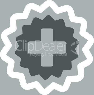 bg-Silver Bicolor Dark_Gray-White--medical cross stamp.eps