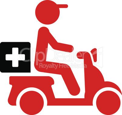 Bicolor Blood-Black--drugs motorbike delivery.eps