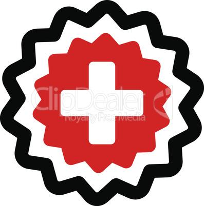 Bicolor Blood-Black--medical cross stamp.eps