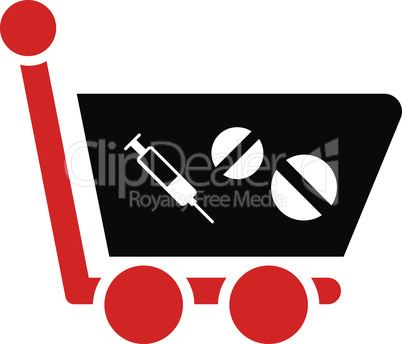 Bicolor Blood-Black--medication shopping cart.eps