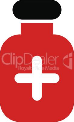 Bicolor Blood-Black--medication vial.eps