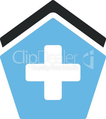 Bicolor Blue-Gray--clinic building.eps