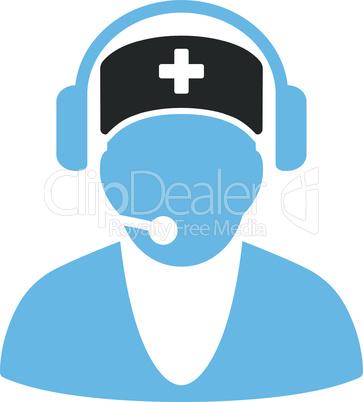 Bicolor Blue-Gray--hospital receptionist.eps