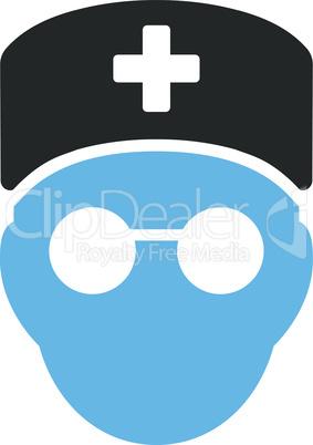 Bicolor Blue-Gray--medic head.eps