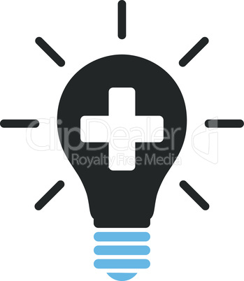 Bicolor Blue-Gray--medical electric lamp.eps