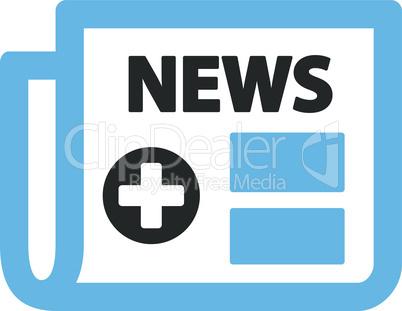 Bicolor Blue-Gray--medical newspaper.eps