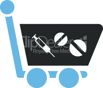 Bicolor Blue-Gray--medication shopping cart.eps
