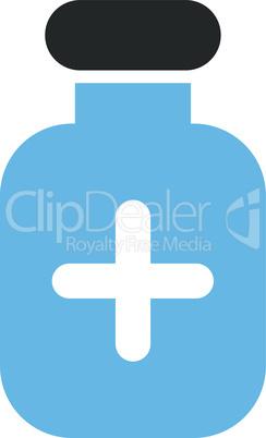 Bicolor Blue-Gray--medication vial.eps