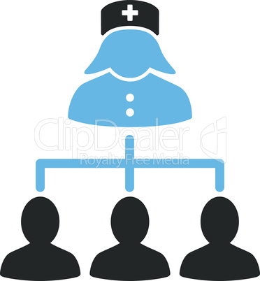 Bicolor Blue-Gray--nurse patients connections.eps