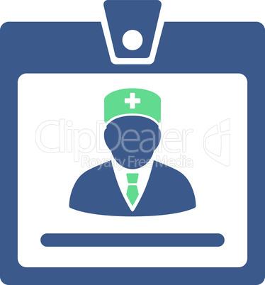 BiColor Cobalt-Cyan--doctor badge.eps