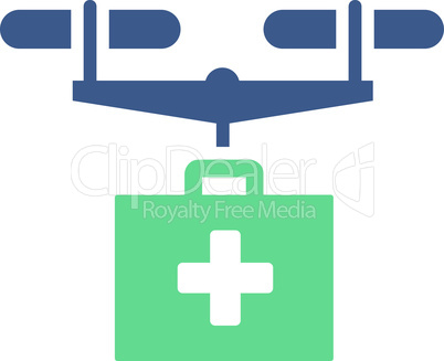 BiColor Cobalt-Cyan--drug drone delivery.eps