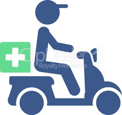 BiColor Cobalt-Cyan--drugs motorbike delivery.eps
