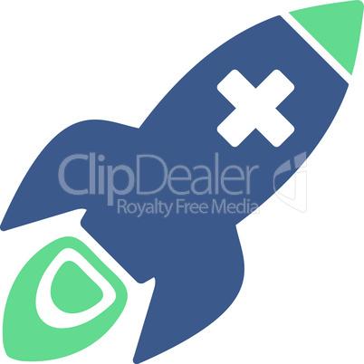 BiColor Cobalt-Cyan--medical rocket.eps