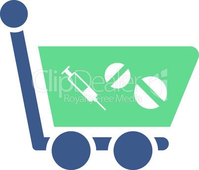 BiColor Cobalt-Cyan--medication shopping cart.eps