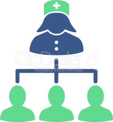 BiColor Cobalt-Cyan--nurse patients connections.eps